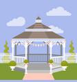 wedding gazebo vector image