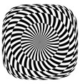 op art pattern vector image