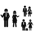 businessman and businesswoman pictogram vector image