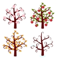 four seasons trees art vector image