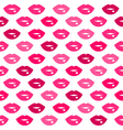 Cute fun pink lips kiss seamless pattern vector image vector image
