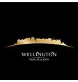 Wellington New Zealand city skyline silhouette vector image vector image