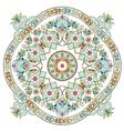 artistic ottoman pattern series three vector image