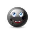 Cartoon bowling ball character vector image vector image