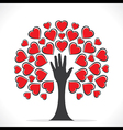 creative valentines tree design or share your love vector image