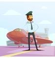 Pilot Cartoon vector image