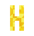 Abstract color alphabet H vector image