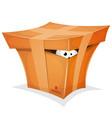 funny gift in cardboard box vector image