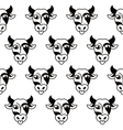 Isolated abstract black and white cow muzzle logo vector image