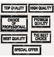 Premium quality rubber stamps set vector image