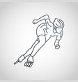 roller sports logo icon vector image