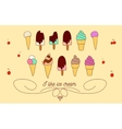 Set of icons of ice cream vector image