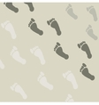Seamless pattern of footprints vector image