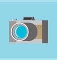 camera flat icon vector image