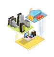 data cloud isometric infographics vector image