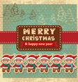 retro vintage christmas card vector image