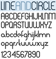 Poster thin circle black font and numbers vector image