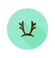 Christmas Antlers Flat Icon vector image