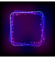 glowing frame against dark background vector image