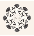 Ornamental round with black rose vector image vector image