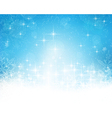 Abstract blue white Christmas winter vector image