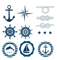 Nautical decoration set vector image