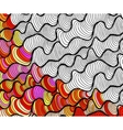 abstract seamless fantasy pattern hand vector image