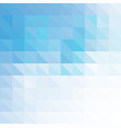 blue geometric background made of triangles vector image