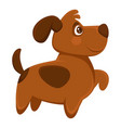 dog pet cartoon puppy animal flat icon vector image
