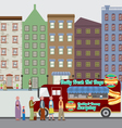 Food Truck On The Street vector image