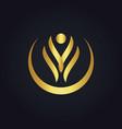 Happy beauty abstract spa gold logo vector image