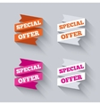 Paper banners or ribbons Special offer vector image