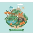 protection nature vector image