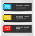Set of black banners for sale vector image