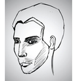 Sketch portrait of a man vector image