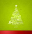 Christmas tree created of Christmas related words vector image
