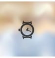 watch icon on blurred background vector image
