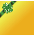 Green Yellow Present Bow and Ribbon Background vector image vector image