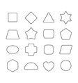 Linear thin geometric rounded shapes Heart star vector image