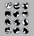 Chinese Zodiac Black and White Silhouettes vector image