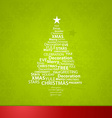 Christmas tree created of Christmas related words vector image