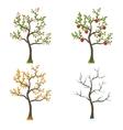 four seasons trees art vector image