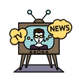 Tv News Poster vector image