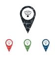 Wi-Fi pointer grunge icon set vector image