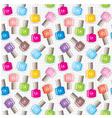 Seamless nail polish pattern vector image vector image