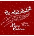 Santa Clouse driving sledge vector image