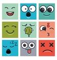 set emoticons faces vector image