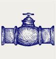 Industrial pipeline part vector image vector image