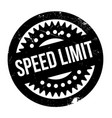 speed limit rubber stamp vector image