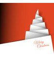 simple christmas tree made from paper vector image
